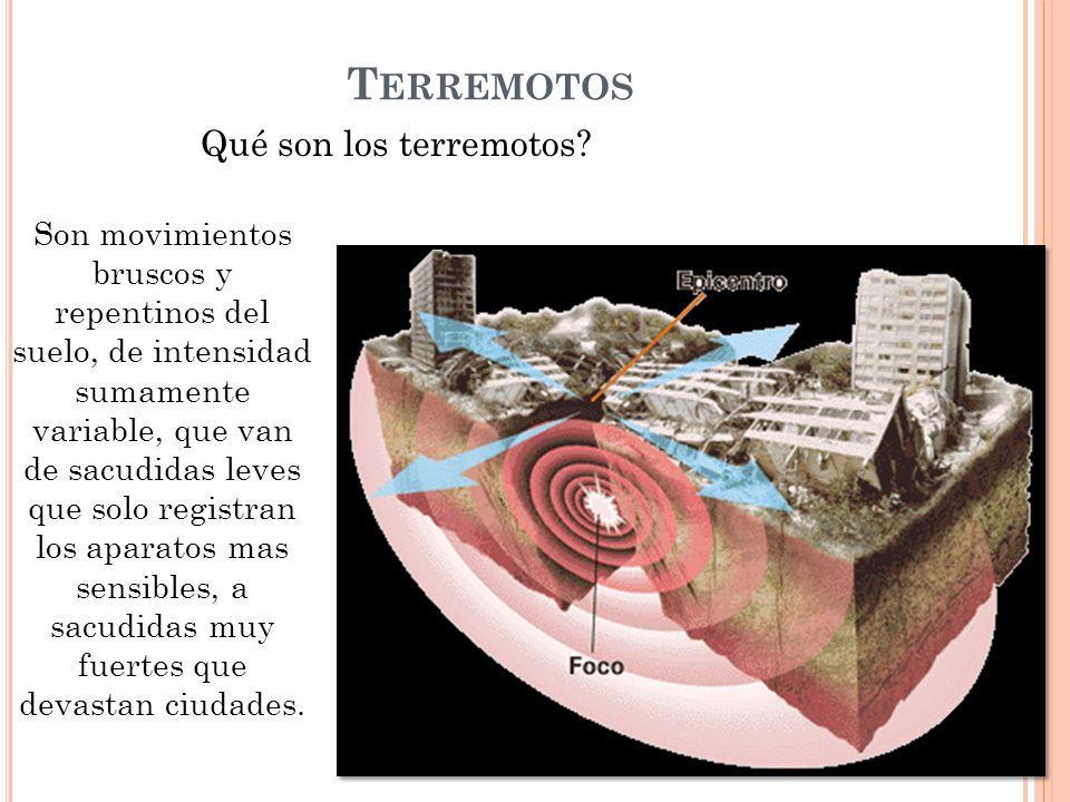 Terremotos Qué son los terremotos