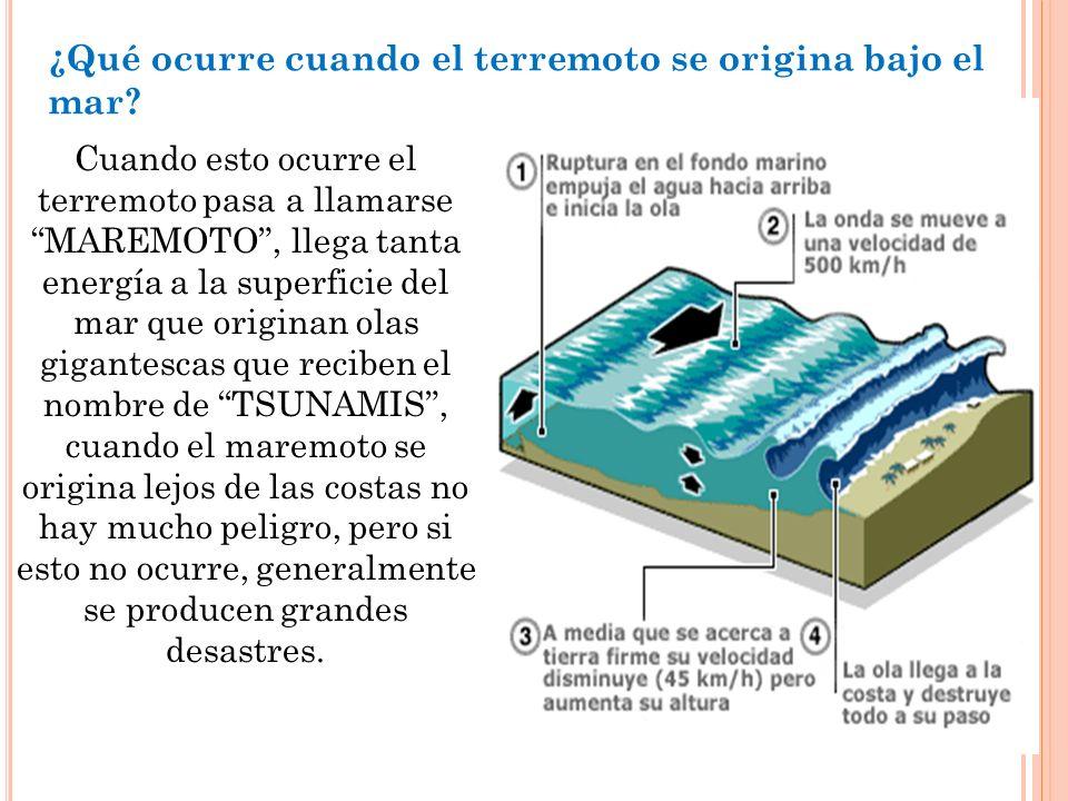¿Qué ocurre cuando el terremoto se origina bajo el mar