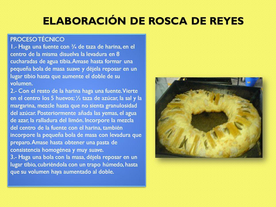 ELABORACIÓN DE ROSCA DE REYES