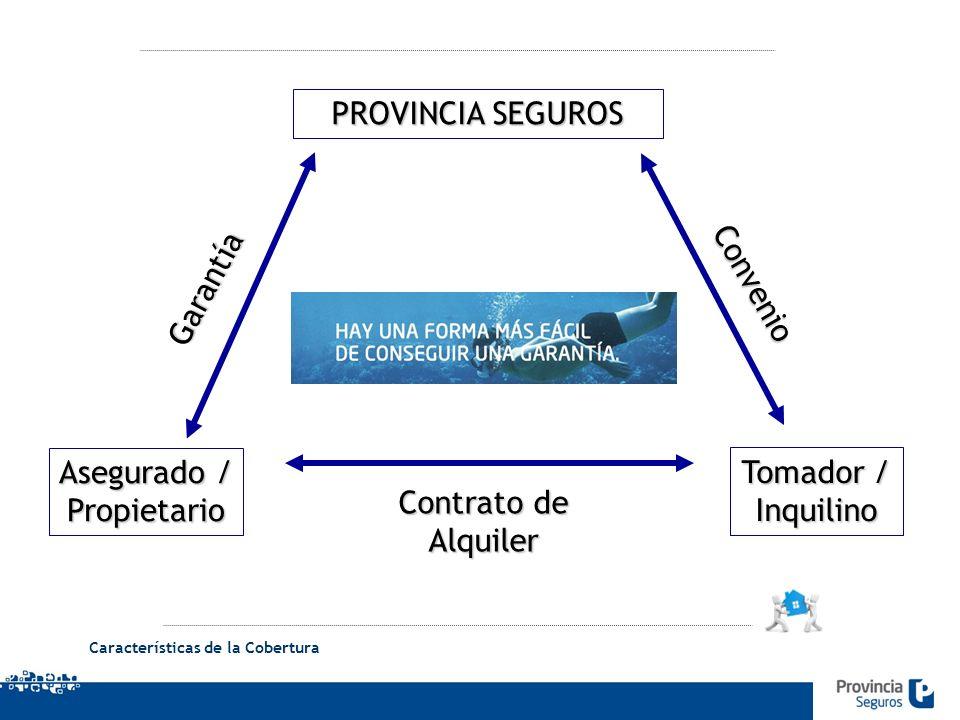 PROVINCIA SEGUROS Garantía Convenio Asegurado / Propietario Tomador /