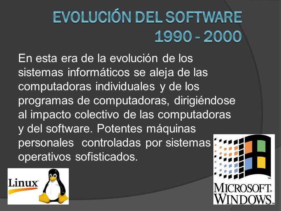 Evolución del software 1990 - 2000