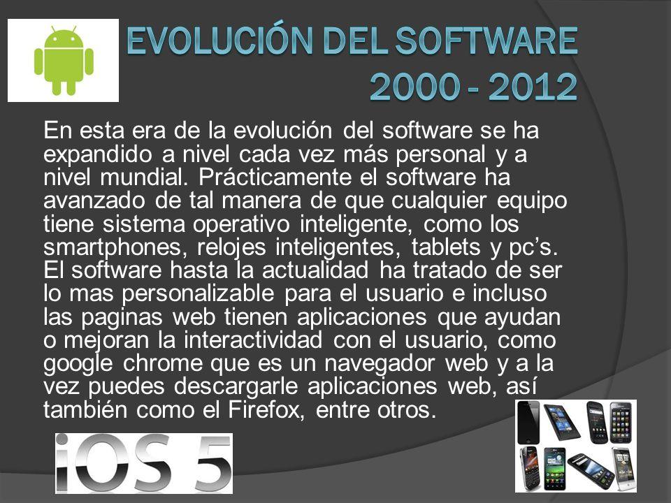 Evolución del software 2000 - 2012