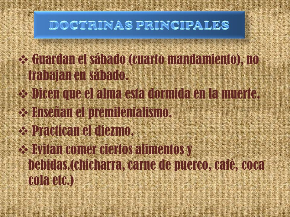 DOCTRINAS PRINCIPALES