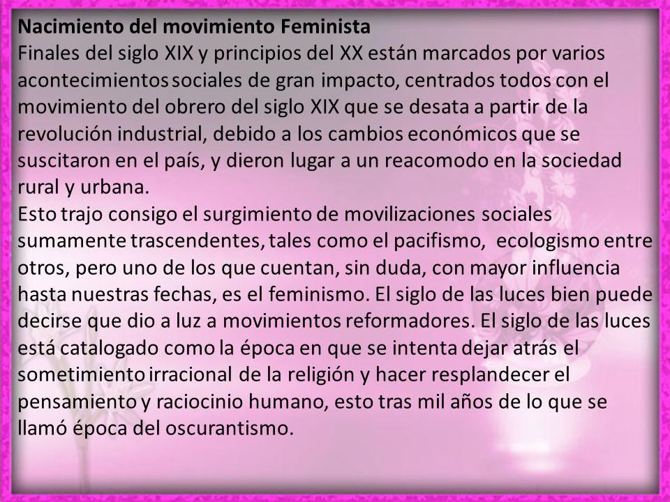Nacimiento del movimiento Feminista
