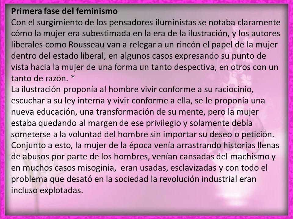 Primera fase del feminismo