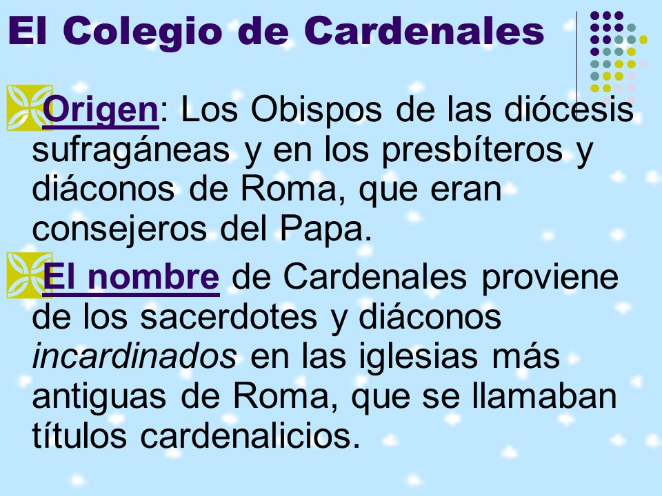 El Colegio de Cardenales