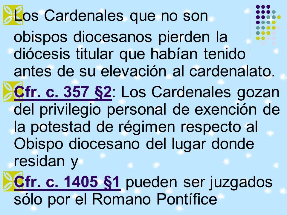 Los Cardenales que no son