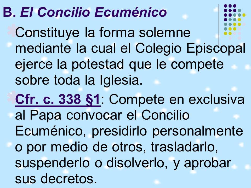 B. El Concilio Ecuménico