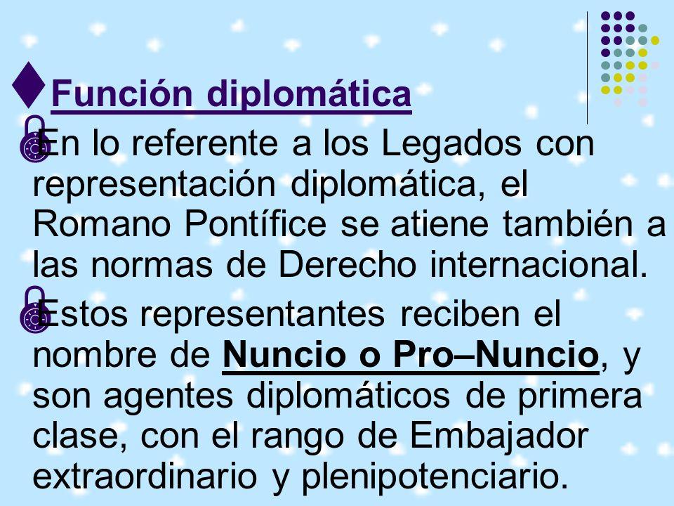 Función diplomática