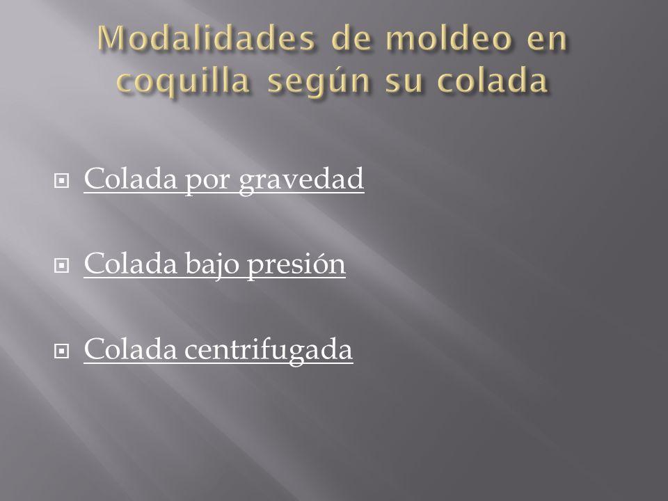 Modalidades de moldeo en coquilla según su colada