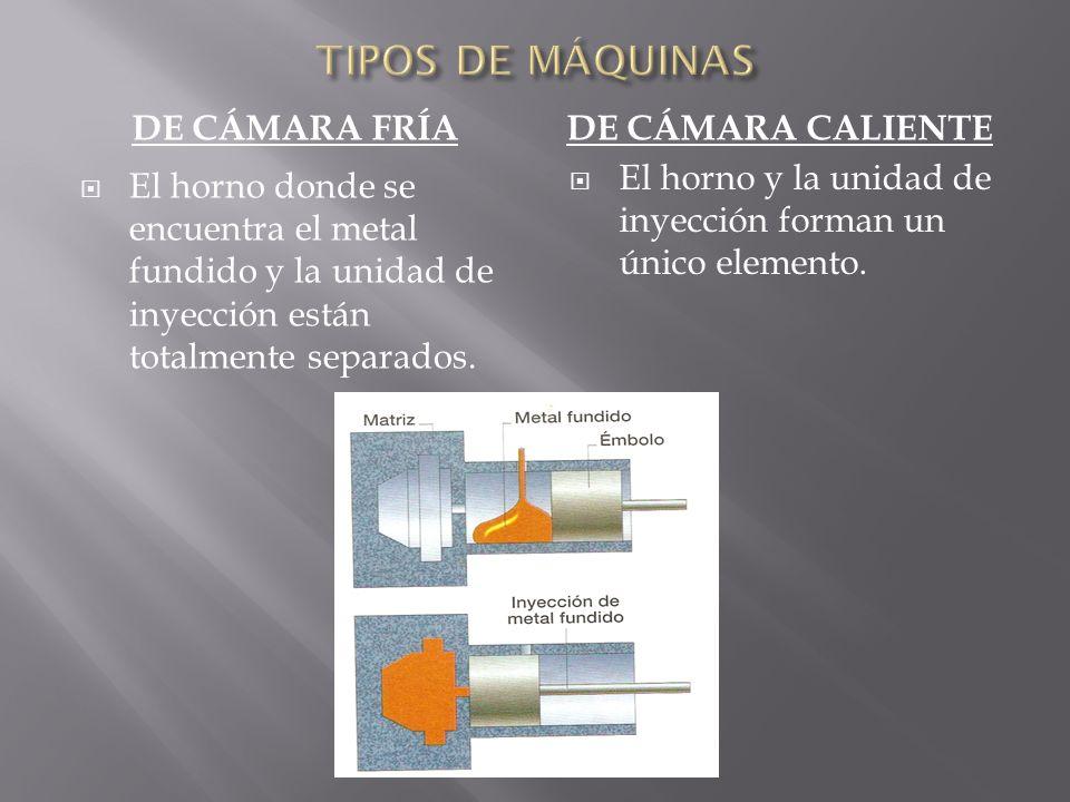 TIPOS DE MÁQUINAS De cámara fría De cámara caliente