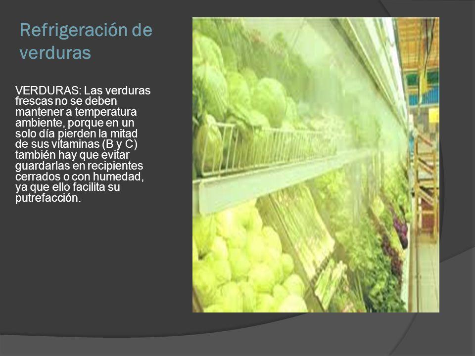 Refrigeración de verduras