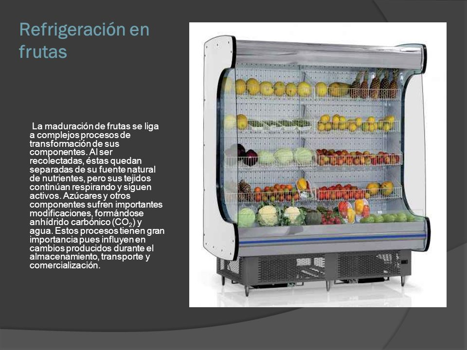 Refrigeración en frutas