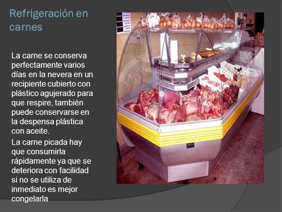 Refrigeración en carnes