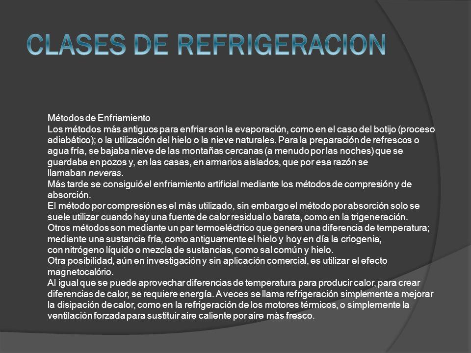 CLASES DE REFRIGERACION