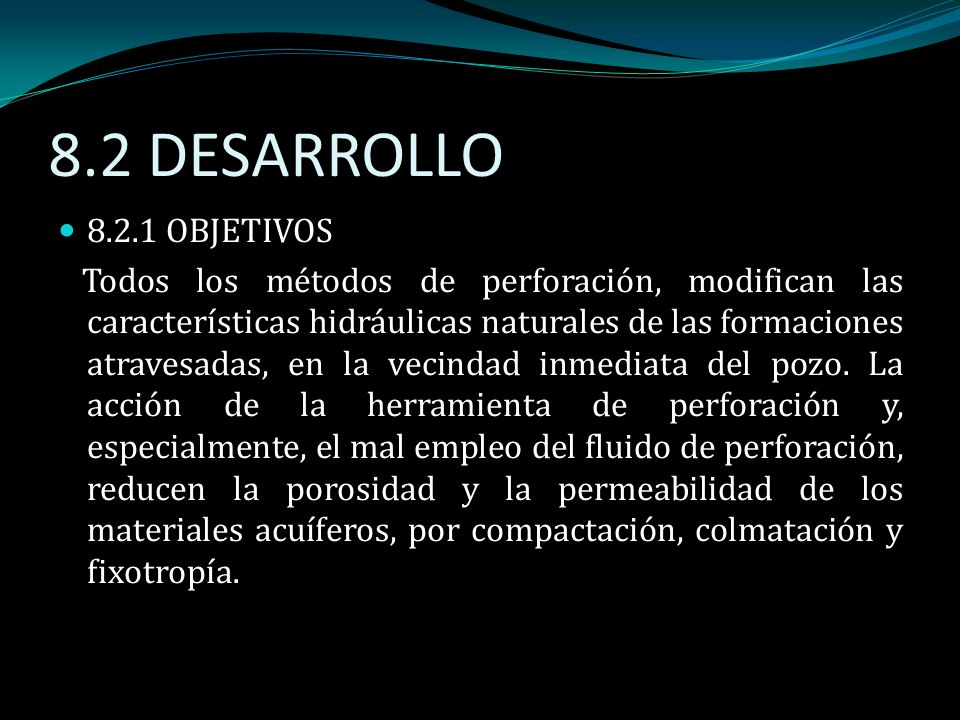 8.2 DESARROLLO 8.2.1 OBJETIVOS.