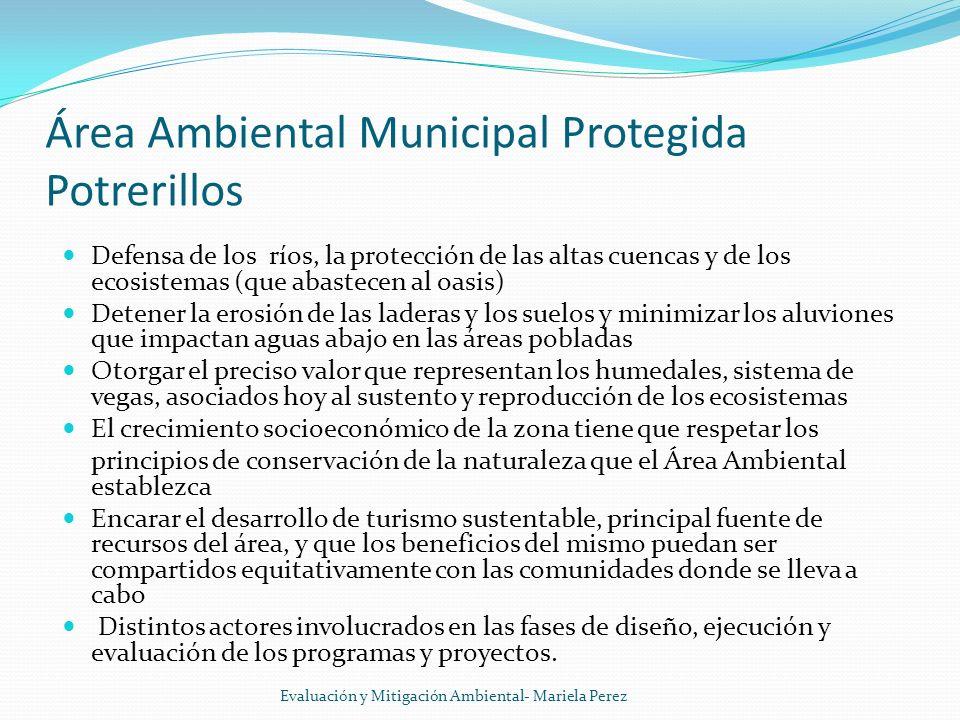 Área Ambiental Municipal Protegida Potrerillos