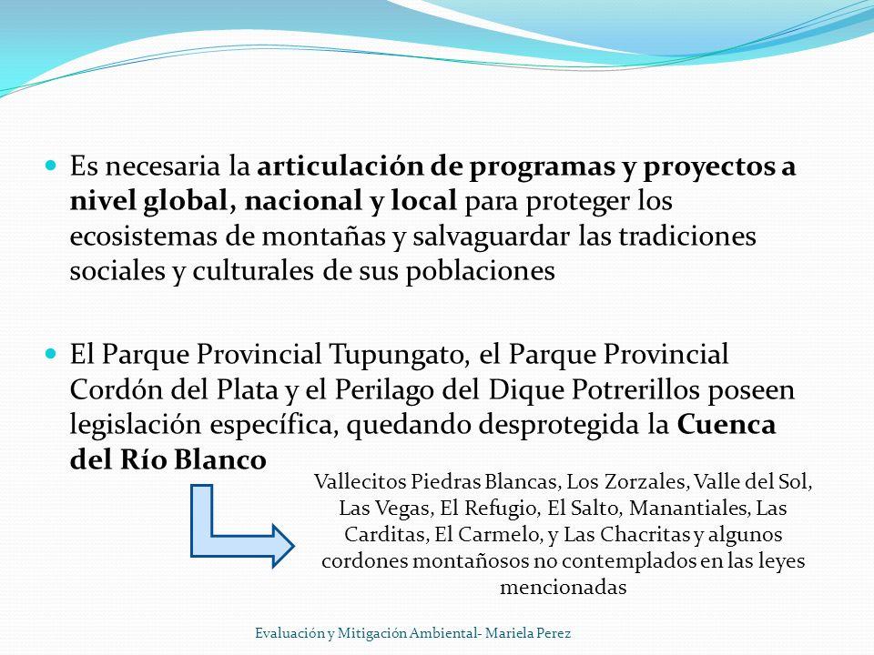 Es necesaria la articulación de programas y proyectos a nivel global, nacional y local para proteger los ecosistemas de montañas y salvaguardar las tradiciones sociales y culturales de sus poblaciones