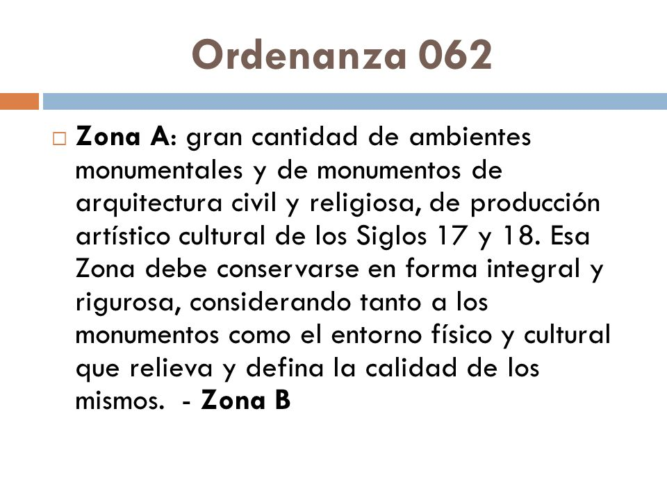Ordenanza 062
