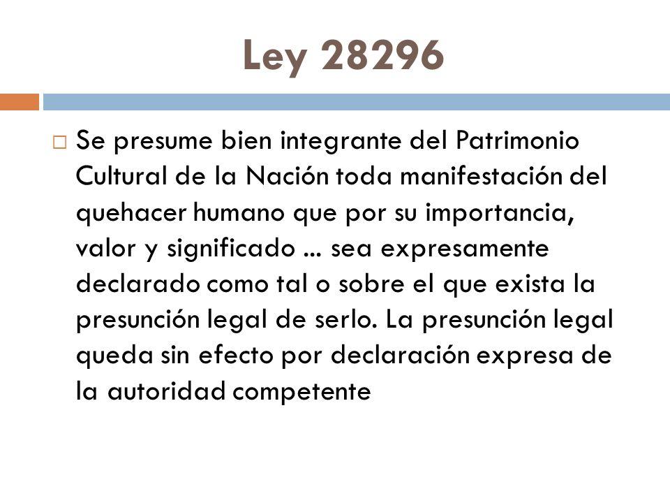 Ley 28296