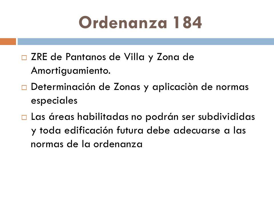 Ordenanza 184 ZRE de Pantanos de Villa y Zona de Amortiguamiento.