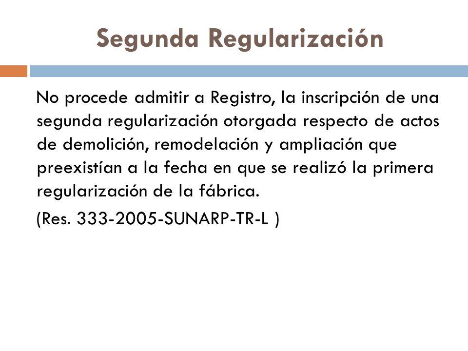 Segunda Regularización