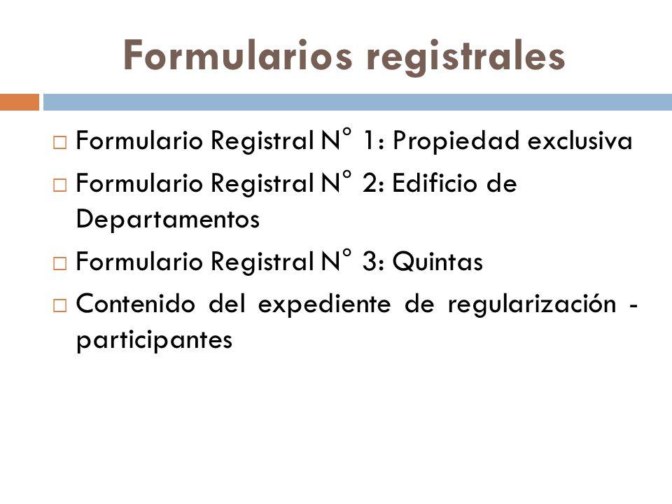 Formularios registrales