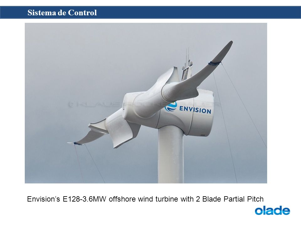 Envision's E128-3.6MW offshore wind turbine with 2 Blade Partial Pitch
