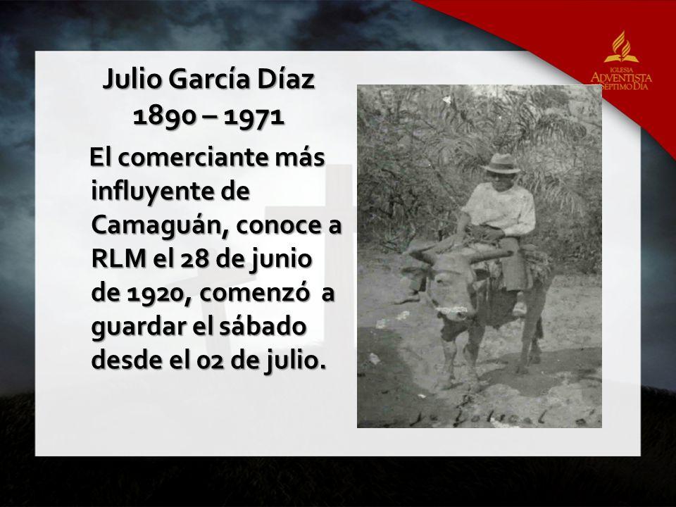 Julio García Díaz 1890 – 1971.