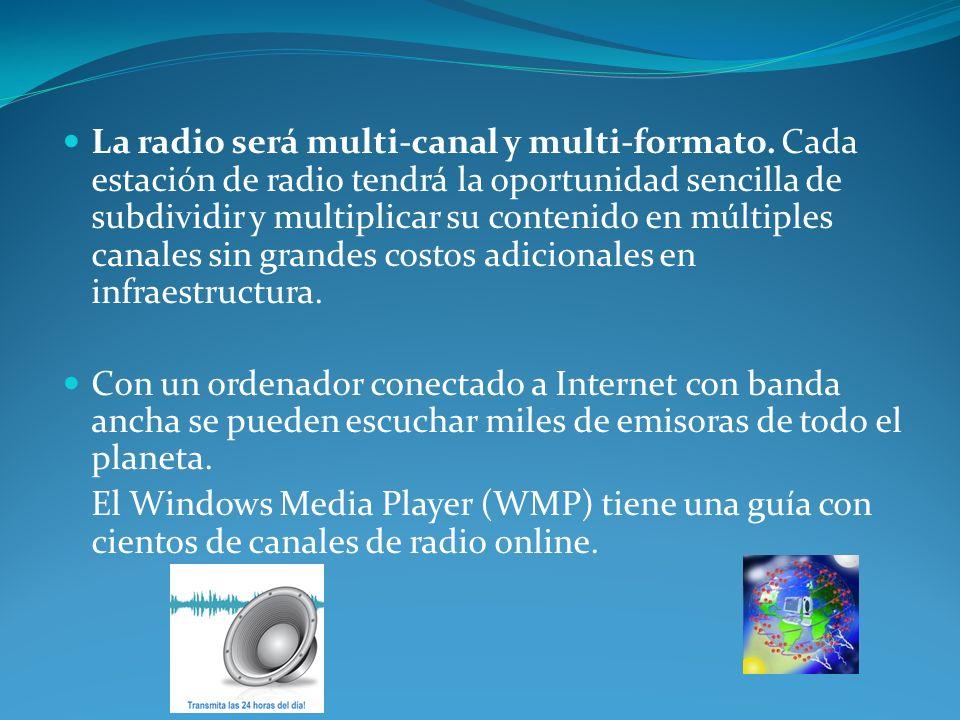 La radio será multi-canal y multi-formato