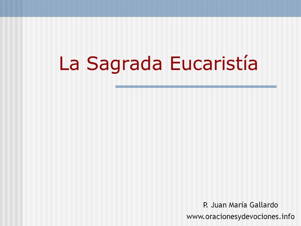 La Sagrada Eucaristía P. Juan María Gallardo
