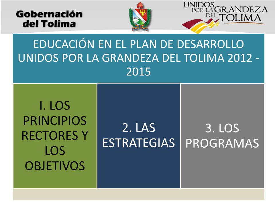 I. LOS PRINCIPIOS RECTORES Y LOS OBJETIVOS