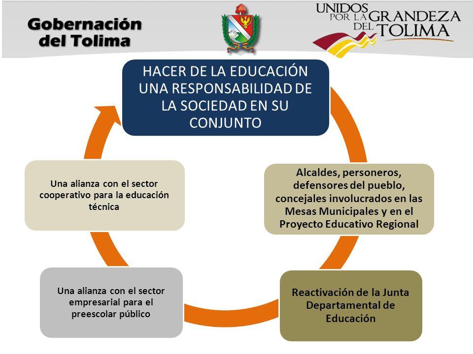 HACER DE LA EDUCACIÓN UNA RESPONSABILIDAD DE LA SOCIEDAD EN SU CONJUNTO