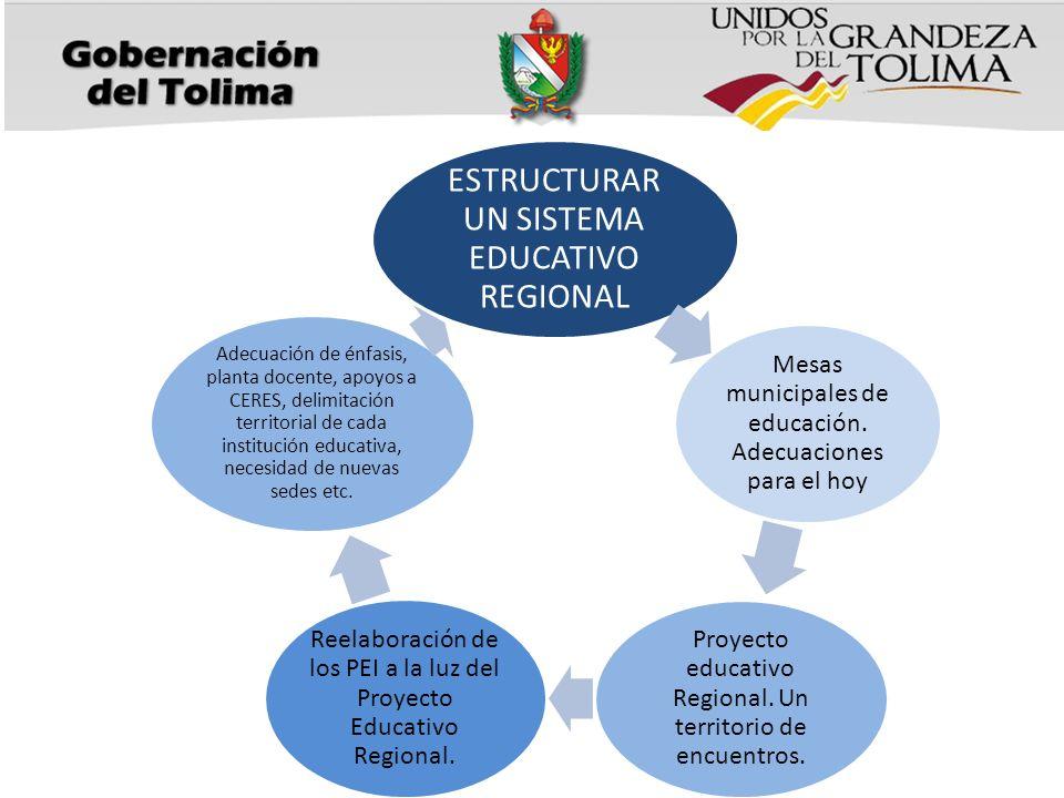 ESTRUCTURAR UN SISTEMA EDUCATIVO REGIONAL