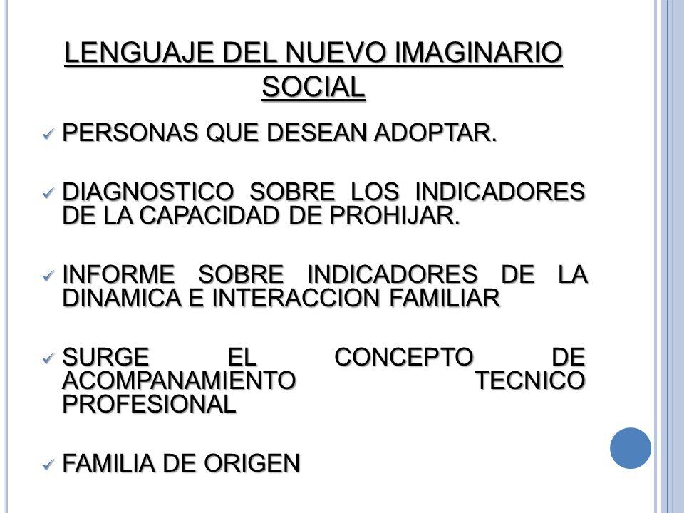 LENGUAJE DEL NUEVO IMAGINARIO SOCIAL