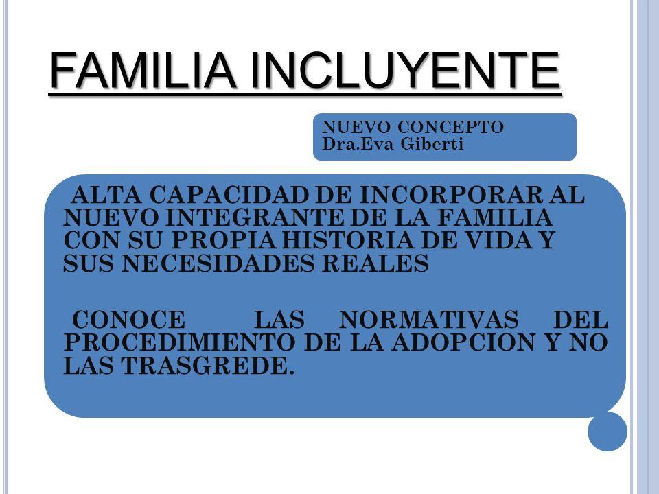 FAMILIA INCLUYENTE NUEVO CONCEPTO Dra.Eva Giberti.