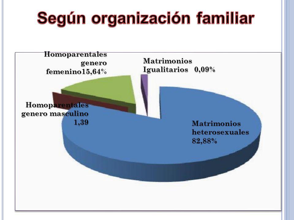 Según organización familiar