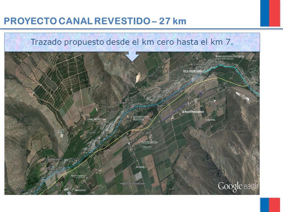 Trazado propuesto desde el km cero hasta el km 7.