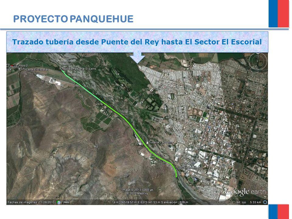 Trazado tubería desde Puente del Rey hasta El Sector El Escorial
