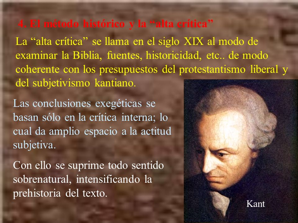 4. El método histórico y la alta crítica