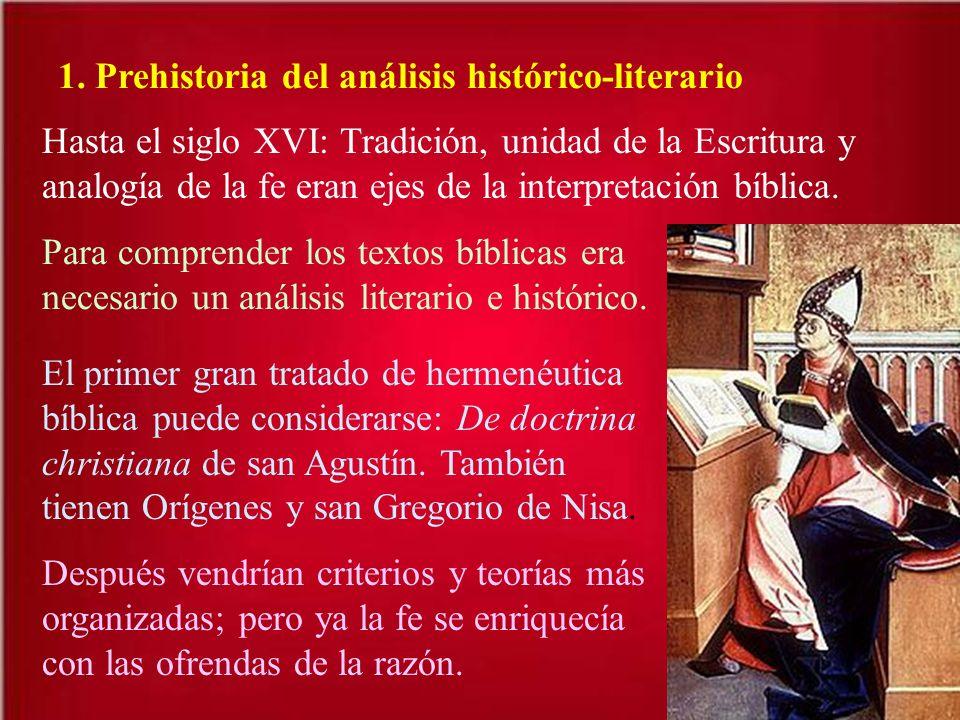 1. Prehistoria del análisis histórico-literario