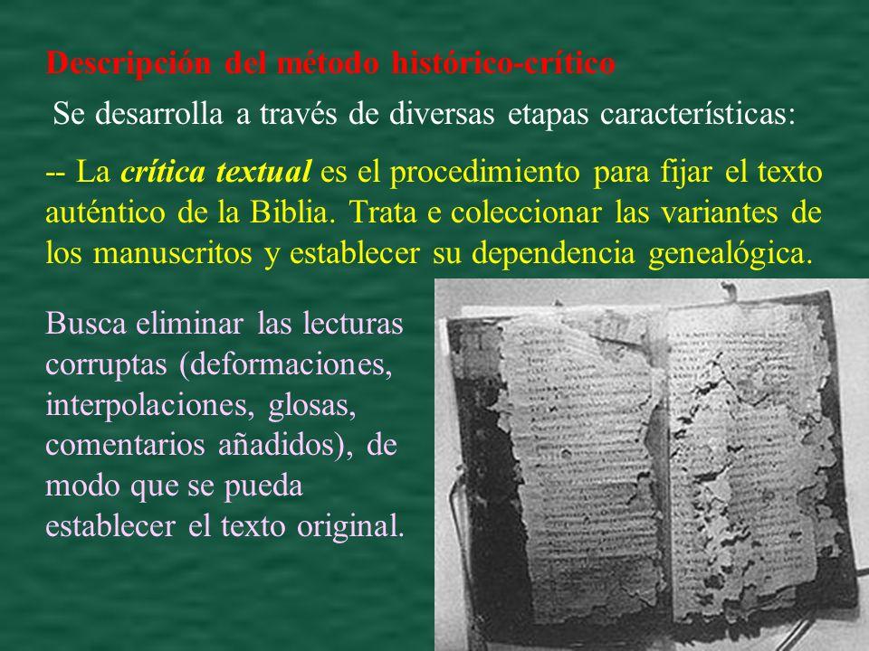 Descripción del método histórico-crítico