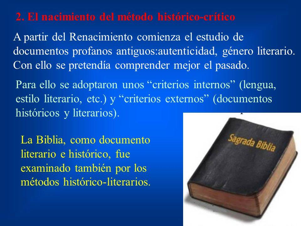 2. El nacimiento del método histórico-crítico