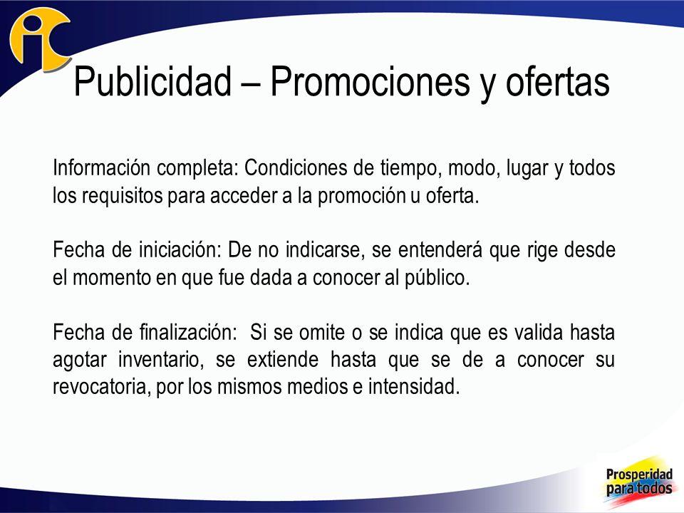 Publicidad – Promociones y ofertas