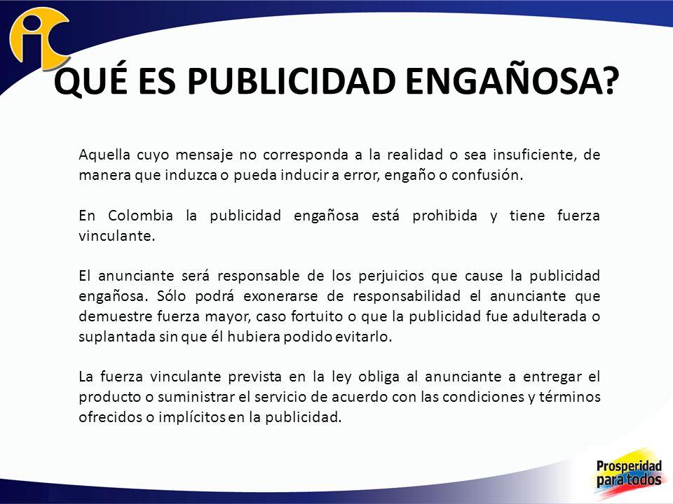 QUÉ ES PUBLICIDAD ENGAÑOSA