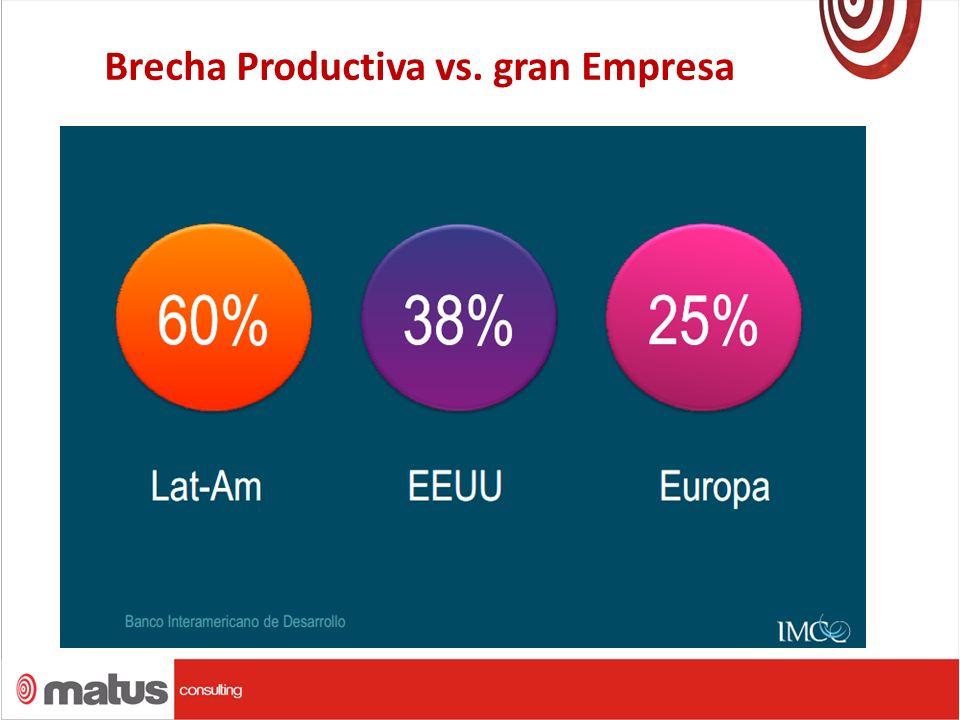 Brecha Productiva vs. gran Empresa