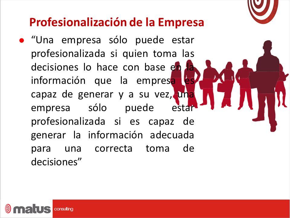 Profesionalización de la Empresa