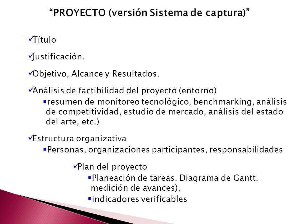 PROYECTO (versión Sistema de captura)
