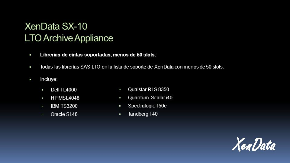 XenData SX-10 LTO Archive Appliance