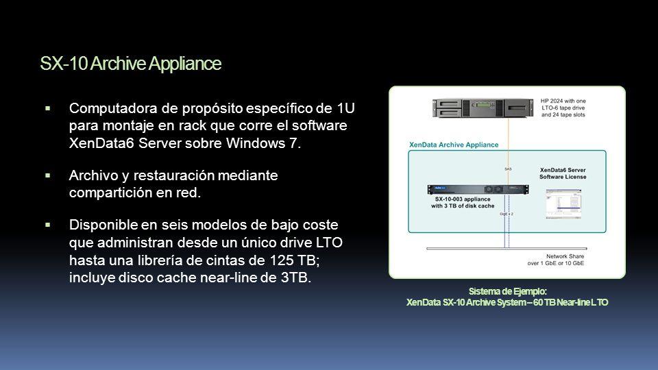 XenData SX-10 Archive System – 60 TB Near-line LTO